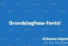 Photo of Waar om die Graad 1 font te kry (en ander Grondslagfase fonts)